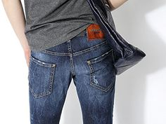DSquared2 Men's Leather Logo Patch Sexy Kenny Twist Fit Jeans   DSquared2 Men's Leather Logo Patch Sexy Kenny Twist Fit Jeans   Please click on the Size Info below :   [Size Info]       [Item Features]   Check out these vintage denim jeans; the perfect match for the streets! It has basic belt loops, button-fly, 5 pockets, a single dainty rhinestone gem embellishment on the left side pocket, subtle distressed details, faded wash and a leather logo patch for authenticity. Durable and c..
