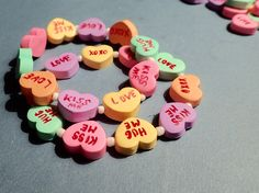 premo! Conversation Heart Bracelet by Ruth Steiner for Polyform