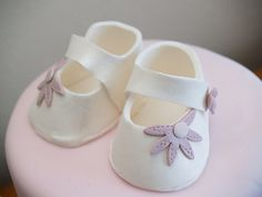 Template for Fondant Baby Shoe | Fondant Baby Booties Template Pic