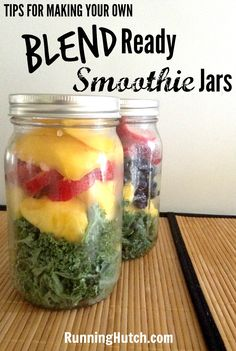 See my tips for making Blend Ready Smoothie Jars at RunningHutch.com | Matters Of Course