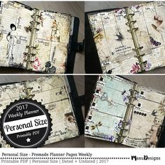 Personal Size - 2017 Planner Printable Planner Pages 2017 Weekly Planner
