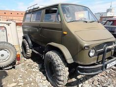 VW van body on UNIMOG 404 chassis and nose!