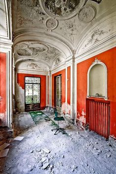 The 'Still' Colorful Interior of a Forgotten Estate Home in Europe~