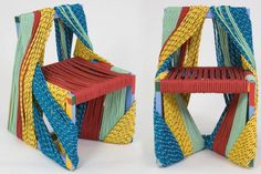africa chair / material: steel and rope - 2006 - rodrigo almeida