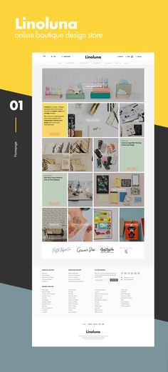 Linoluna | eCommerce Website on Behance