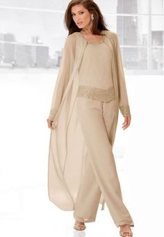 Elegant Evening Pant Sets | three piece pant set three piece pant set from j kara with shimmering ...