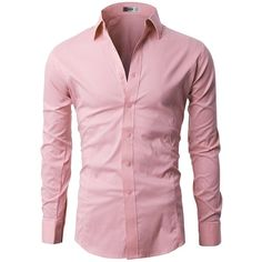 H2H Mens Classic Dress Slim Fit Shirts Breathable Long Sleeve of... ($20) ❤ liked on Polyvore featuring men's fashion, men's clothing, men's shirts, men's dress shirts, mens shirts, mens longsleeve shirts, mens slim fit dress shirts, mens slim fit shirts and mens dress shirts