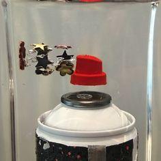 Fred Allard upgrades the #graffiti bottle! Confetti spray #paint anyone? #wynwoodlab #wynwood #art #miami