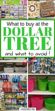 The Best Things To Buy At The Dollar Tree And What To Avoid - Finance tips, saving money, budgeting planner Best Money Saving Tips, Money Tips, Saving Money, Money Hacks, Money Savers, No Spend Challenge, Money Saving Challenge, Save Money On Groceries, Ways To Save Money