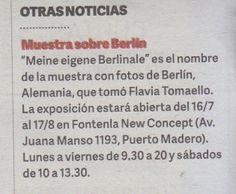 """""""Diario Clarín"""" de Argentina anuncia """"Meine eigene Berlinale"""", en Puerto Madero."""
