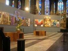 Altar paintings by Arcabas