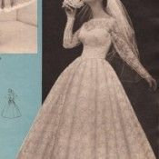 1950s Wedding Dress Design Inspiration