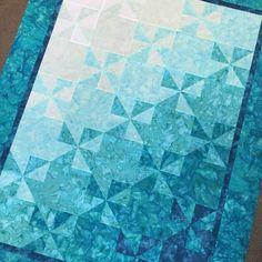 Tidepools Quilt Pattern by Cotton Pickins' Quilts Patchwork Quilt Patterns, Batik Quilts, Blue Quilts, Quilt Patterns Free, Patchwork Bags, Pinwheel Quilt Pattern, Mini Quilts, Sewing Patterns, Fish Quilt Pattern