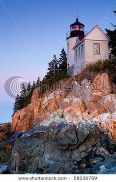 Bass Harbor Lighthouse, Acadia National Park, Maine, USA