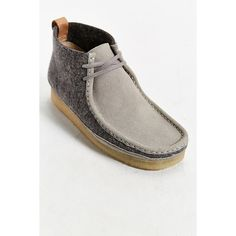 0a82b1e782f Clarks Wool Wallabee Boot ( 160) ❤ liked on Polyvore featuring mens