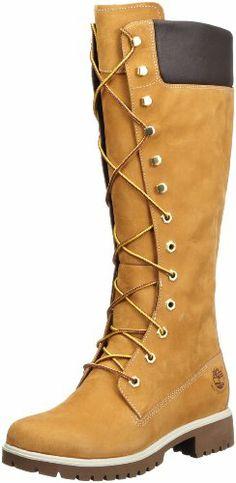 Timberland WOMS PREM 14IN WHEAT NUBK 3752R - Botas fashion de cuero para mujer: Amazon.es: Zapatos y complementos