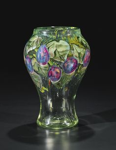 "TIFFANY STUDIOS AN IMPORTANT AND RARE ""MORNING GLORY"" PAPERWEIGHT VASE engraved L.C. Tiffany-Favrile 8561H/Paris-Salon 1914 favrile glass"