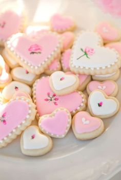 Incredible cookies at a Valentine's Day tea party! See more party planning ideas at CatchMyParty.com!