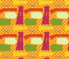 couture oh patron couture orange fabric by nadja_petremand on Spoonflower - custom fabric