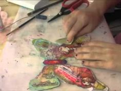 Mixed Media with Suzi Blu: Butterfly - YouTube  Beautiful to watch and may give you some ideas for mixed media work.