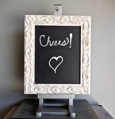 Chalkboard Easel Set/Wedding Decor/Shabby Chic/Up by PippinPost