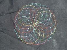 Spirograph embroidery - still cool even if you do have to get a special attachment for a special sewing machine....