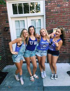 College Cheer, College Life, College Girls, High Top Converse Outfits, White Converse, Football Cheerleaders, Cheerleading, Uw Huskies, Seattle Football