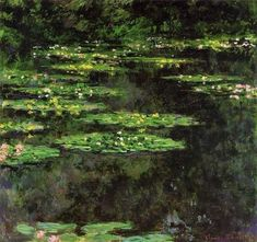 Claude Monet Water-Lilies 04 painting, oil on canvas & frame; Claude Monet Water-Lilies 04 is shipped worldwide, 60 days money back guarantee. Pierre Auguste Renoir, Manet, Hotel Savoy, Le Havre France, Rio Tamesis, Monet Water Lilies, Contemporary Abstract Art, Expositions, Oil Painting Reproductions