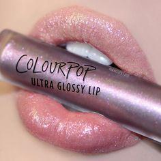 'Nonsense' Ultra Glossy Lip by colourpop Makeup Goals, Love Makeup, Makeup Inspo, Makeup Inspiration, Makeup Tips, Beauty Makeup, Makeup Products, Colourpop Ultra Glossy Lip, Glossy Lips