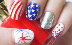 Más de 50 Uñas decoradas del 4 de Julio, día de la independencia de EEUU – 4th of july nailart   Decoración de Uñas - Manicura y Nail Art