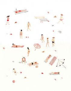Minimalistic summer at the beach illustration by neverlaandss