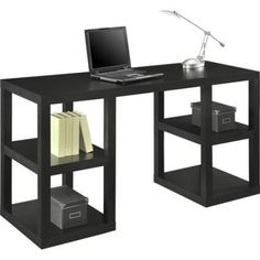 Mainstays Parsons Deluxe Desk Multiple Colors Black