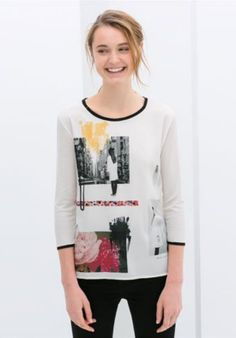 Simple & Desirable Round-neck Long Sleeve People Printing T-shirt