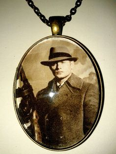 SUPERNATURAL INSPIRED  Dean Winchester Gangster Pendant Necklace ---- THIS is what I want for Christmas!!