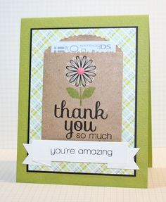 Round Here: Thank You Card - March 2013 SSS Card Kit