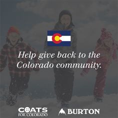 With EVERY coat purchased this week by Colorado residents on WinterKids.com, we will donate a BRAND NEW kids coat to Coats For Colorado! Find out more information about how you can keep #Colorado kids warm here: http://www.winterkids.com/coatsforkids