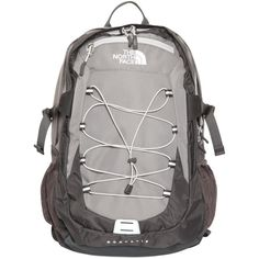 THE NORTH FACE Borealis Backpack - Yellow/Grey ($110) ❤ liked on Polyvore featuring bags, backpacks, shoulder strap backpack, padded laptop bag, padded bag, backpacks bags and zip bags