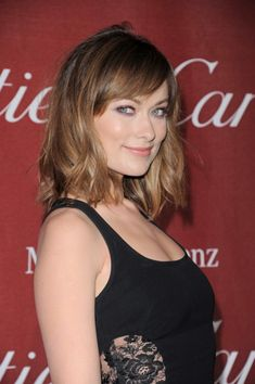 Olivia Wilde hair - in between dark blonde and light brown - color inspiration