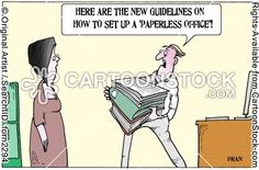 'Here are the new guidelines on how to set up a 'paperless office'!'