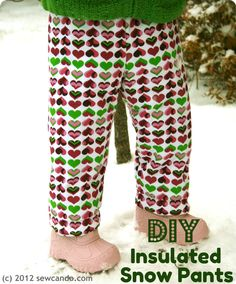 Let it snow! Your young'uns will be toasty in insulated snow pants that take less than an hour to make. (Sew Can Do)