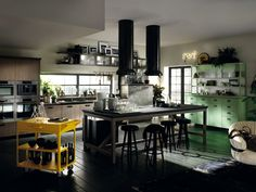#MadeInItaly brands for a modern kitchen: Diesel's style joins forces with Scavolini's know-how   Diesel Social Kitchen