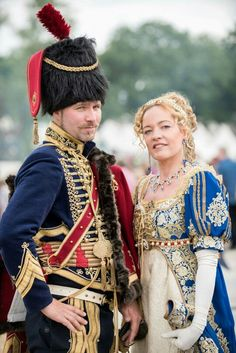 French Hussar captain, regiment, ca and Caroline Bonaparte costume. Costumes made by Angela Mombers. Historical Costume, Historical Clothing, Beautiful Costumes, Beautiful Outfits, Renaissance, 1800s Fashion, Creative Costumes, Clothing And Textile, Empire Style
