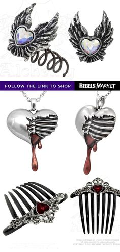 Shop heart gothic jewelry online at RebelsMarket.