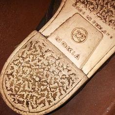#finland100_igchallenge 15/100 - old Nokia - original footwear! 👟👟 #shoes #original  #prototype #total_finland #kengät #skor #nokia #allthingsfinnish #instashoes #instanokia #nostalgia #nostalgic #hello #madeinfinland #ig_finland #thisisfinland #weareinfinland #igersfinland #finlandia #finland #finnish #igerseurope #shoeaddict #shoeporn #oldshoes #antique #connectingpeople #oldnokia #finland100 Old Shoes, Footwear Shoes, Finland, Espadrilles, Nostalgia, The Originals, Retro, Antiques, How To Make
