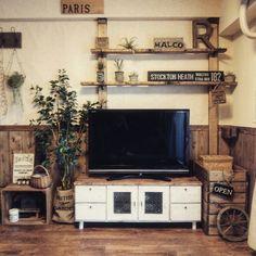 Lounge/DIY/手作り雑貨/リメイク/クッションフロア/フェイクグリーン...などのインテリア実例 - 2015-11-30 09:56:01 | RoomClip (ルームクリップ)