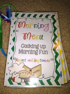 Fabulous in First: Cooking up Morning Fun!  What a great morning routine idea!