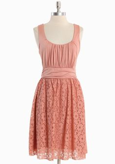 """Meeting Before Dark Lace Dress In Peach 37.99 at shopruche.com. Make an elegant statement in this softly knit peach dress perfected with a cotton lace overlay. A charming unfinished hem, delicate ruched details, and a hint of stretch add feminine style.  Upper: 95% Rayon, 5% Spandex,  Skirt: 85% Cotton, 15% Nylon,  Made in USA,  34.5"""" long from top of shoulder"""
