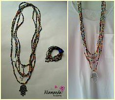 Collar ARCO IRIS + Pulsera ARCO IRIS