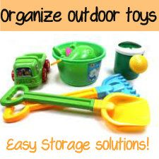 organizing outdoor toys - Your Modern Family