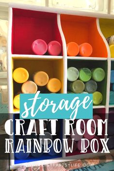 How to upcycle thrift store finds into functional, creative storage ideas. Great thrift store crafts ideas for your craft room storage. I am using mine to hold all my acrylic paints!